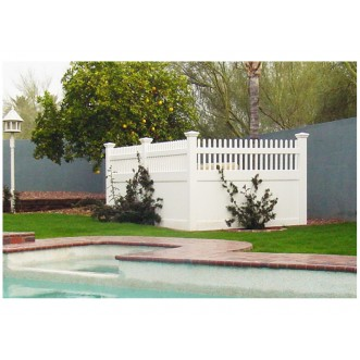 4' Tall Classic Privacy Fence with Straight Picket