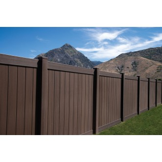 6 Tall Dark Walnut Vinyl Privacy Fence Privacy Cedar