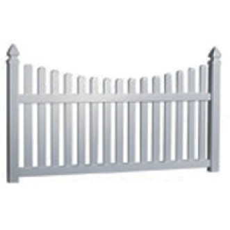 5' Tall Scalloped Picket Fence