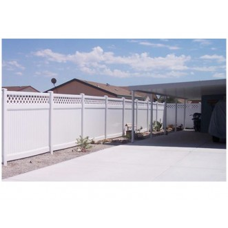 6' Tall Classic Privacy Fence with Lattice