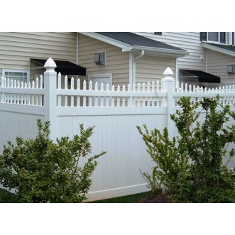 4' Tall Classic Privacy Fence with Scalloped Picket