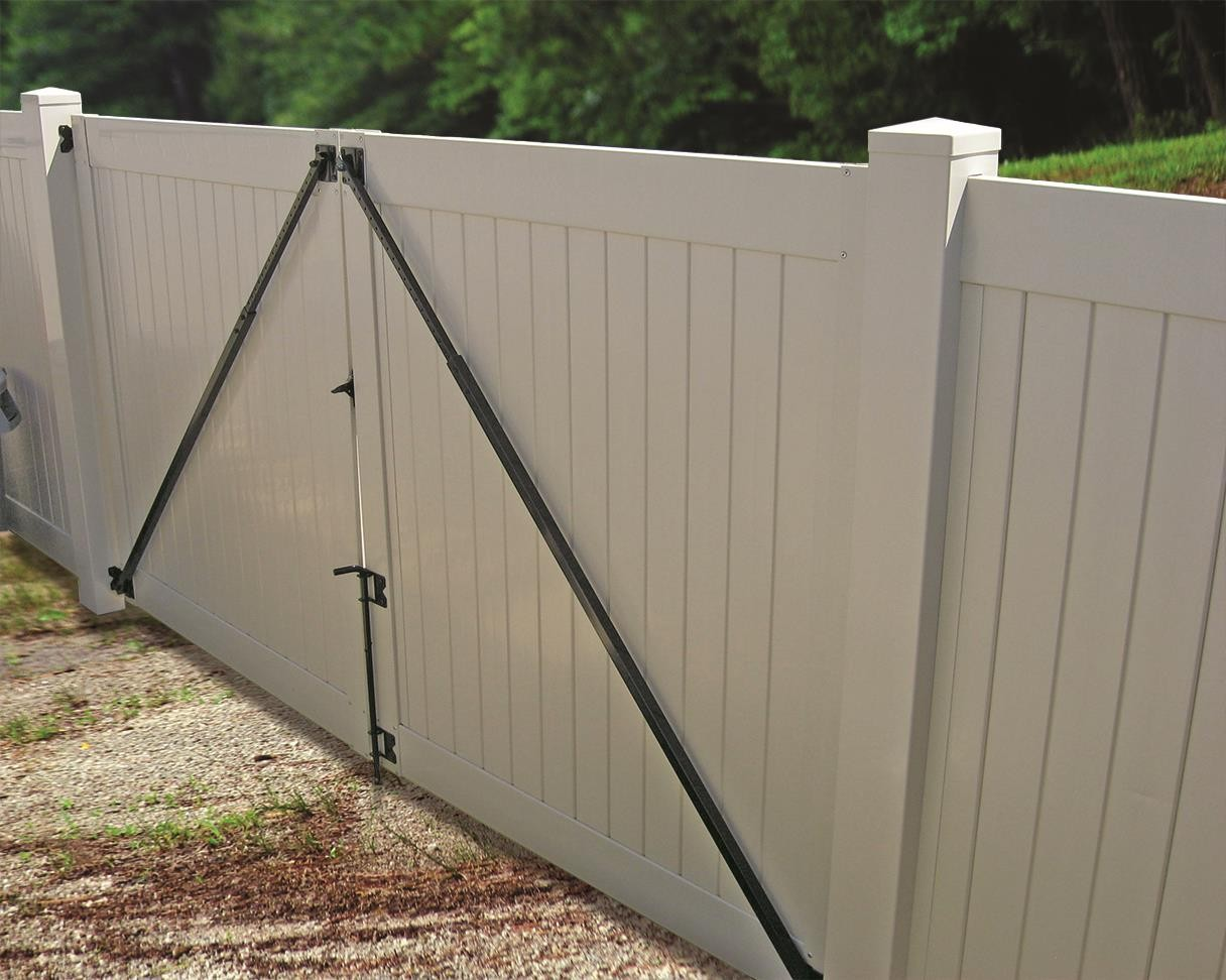 Gate anti sag kit black hardware vinyl fence