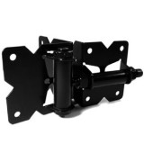 Steel Hinge Set Vinyl Gate Black (Pair)