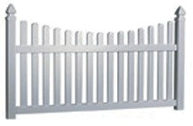 3' Tall Scalloped Picket Fence