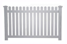 Vinyl Straight Picket Fence